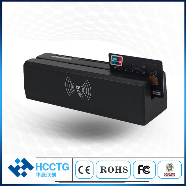 USB Multifunctional 3-Track Magstripe stripe Magnetic Writer/Smart Chip IC  Card Reader Writer/ NFC Reader Writer HCC80