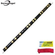 Flauta de bambú China hecho a mano profesional dizi Pan Flauta instrumentos musicales clave de F/G Flauta transversal de color negro
