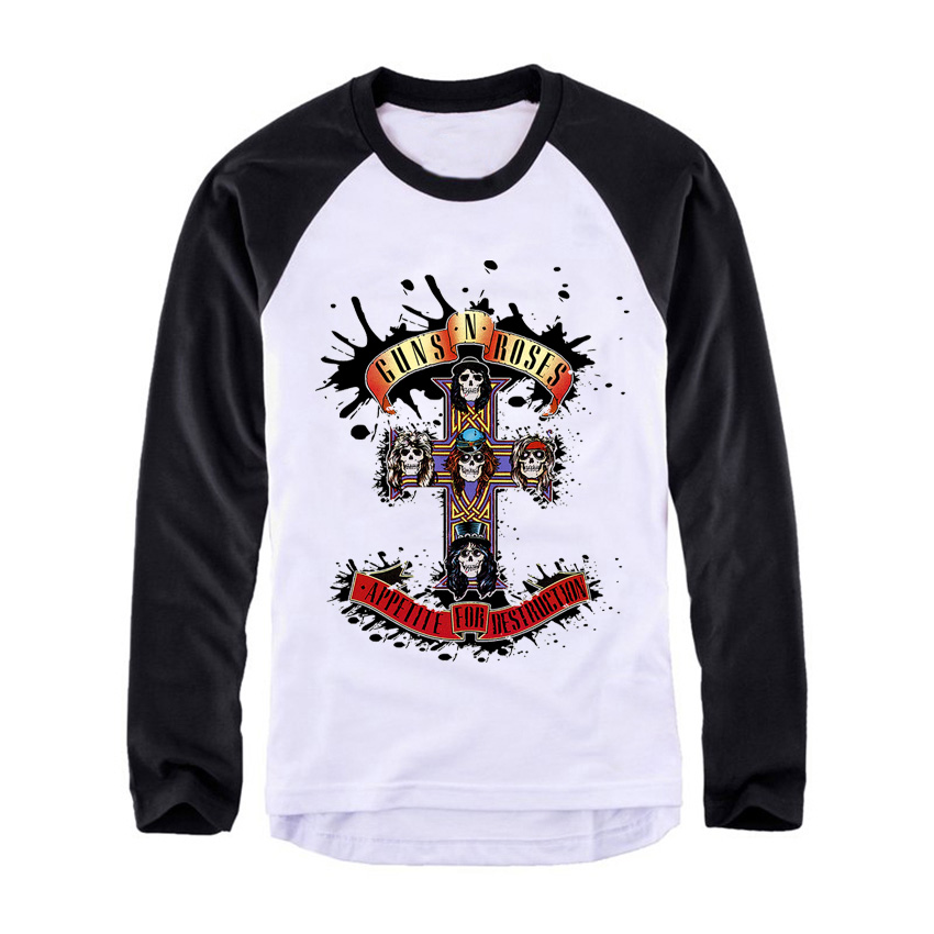 Guns N roses def leoppard Vintage fashion men women size raglan full sleeves long sleeves t shirt item NO. FLBMSS-080