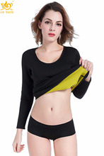 Cn Herb Womens Hot Body Shapers Long Shirt Slimming Neoprene Sweat Sauna Shirts For Weight Loss S - 3xl