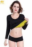 Cn Herb Womens Hot Body Shapers Long Shirt Slimming Neoprene Sweat Sauna Shirts For Weight Loss S 3xl