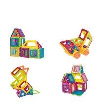 Мини дизайнерский набор Магнитный строительный Конструкторы развивающие магнитные плитки комплект Магнитная конструкция формы игрушки набор для детей подарок