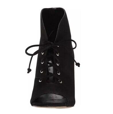 Chaussures Beige Up Talons Marque Pour Vente Hauts Bouche Printemps Robe 2016 Automne Aiguille Talon Bootie Pompes Poisson Femmes Glamorous Dentelle noir Filles Hot SgvR1xIwqw