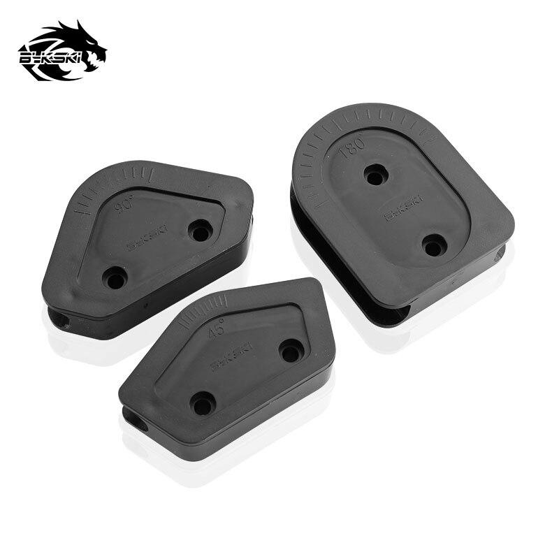 Bykski ABS Multi-angle Use For 12mm/14mm/16mm Outner Diameter Hard Tube Elbow Mold 3pcs/Set Bend Tool Kit For OD12/14/16mm Pipe