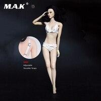 1/6 Scale Female White Lace Bra Underwear Lingerie Set Clothing Adjustable Shoulder Straps Model Toys F 12