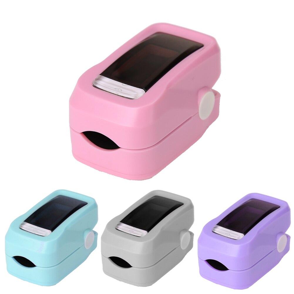 Digital OLED Fingertip Pulse Oximeter CE Approved Household Blood Oxygen SpO2 Heart Rate PR Monitor Pink Health Care