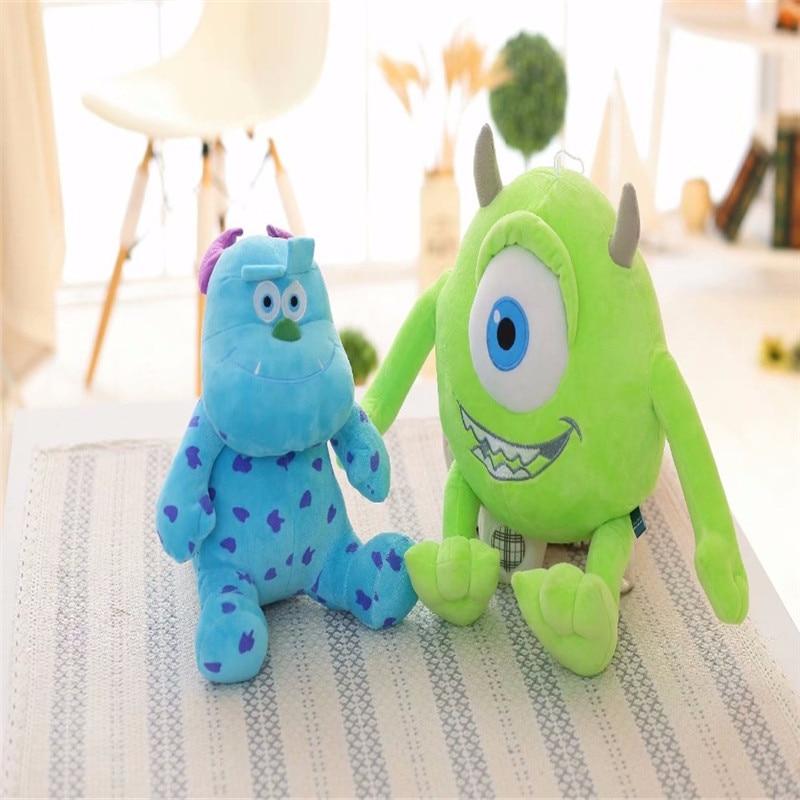 2pcs/set 20cm Monsters Inc Monsters University Monster Mike Wazowski And James P. Sullivan Plush Toy Stuffed Dolls For Kids Gift