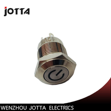 цена на 12mm 1NO momentary metal push button switch with flat round