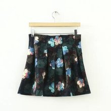 spring new fashion Europe United States after the floral high waist big swing skirt umbrella skirt printed skirt skirt high waist printed africa skirt