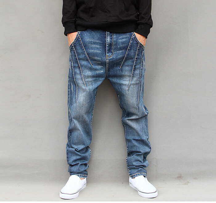 men's new big size jeans new designer denim trousers fashion men straight jeans good quality JH251