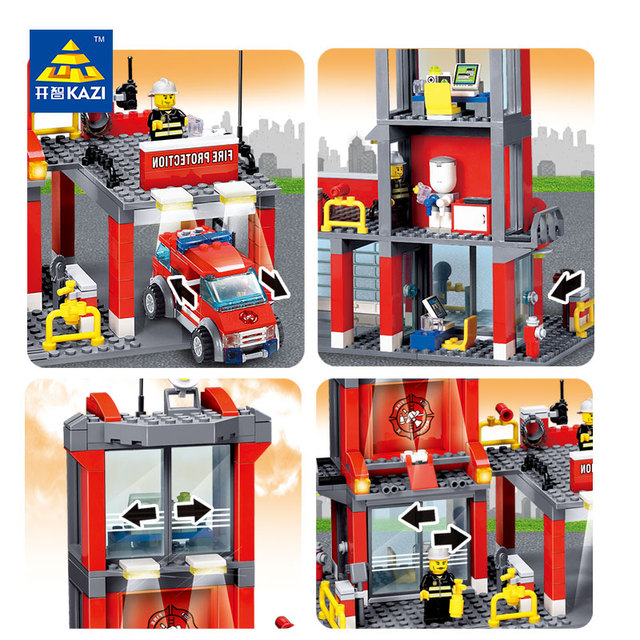 Fire Station Building Blocks 300+pcs Playmobil