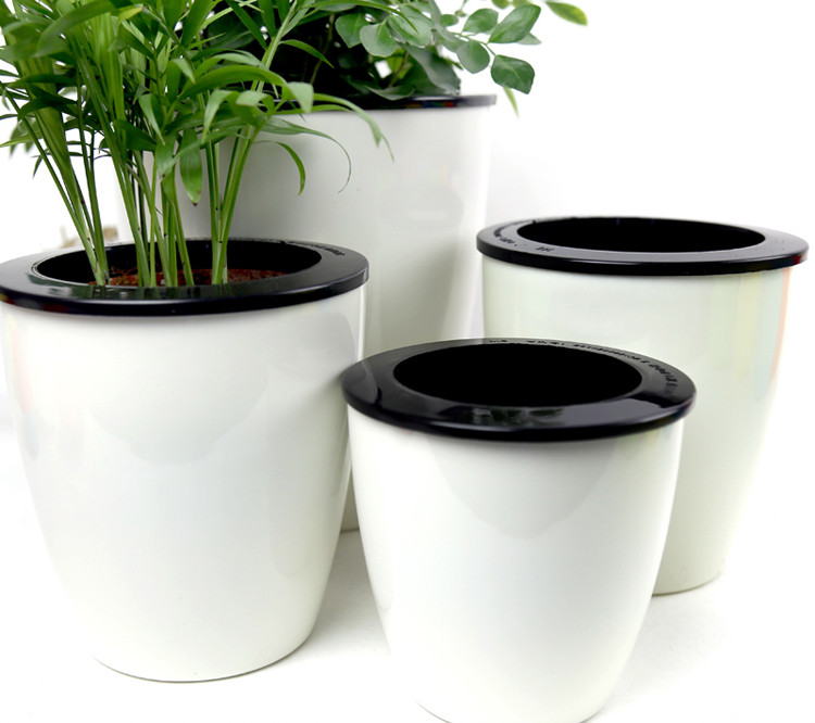 Self Font Watering Pot Automatic Planter Can Flower Pots Metal Plant  Containers How Do They Work