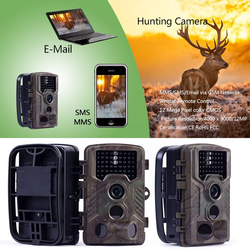 Hunting Camera <font><b>HC800M</b></font> 16MP MMS GSM Email Photo Trap 1080P wild Hunting digital Trail Camera chasse Foto night camera animals image