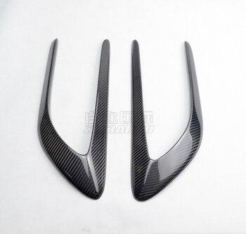 תתאים למרצדס בנץ C כיתה צלחת עלה W205 C63 AMG ארבע דלת צד זימים קישוט סיבי פחמן U רוח סכין