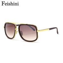 FEISHINI Shop Counters COOL Big Shield Sunglasses Men Polari