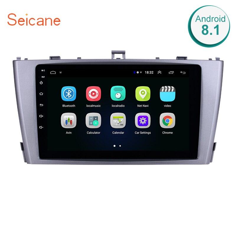 Seicane 2din Android 8,1 9 сенсорный экран радио GPS; Мультимедийный проигрыватель для 2009 2010 2011 2012 2013 Toyota AVENSIS головное устройство