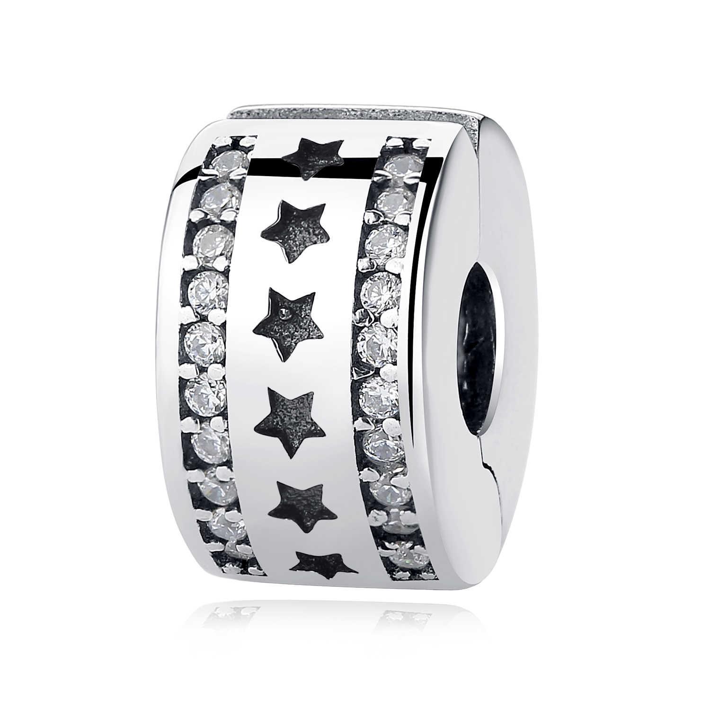 Prawdziwe 925 srebro 2018 Aliexpress gorąca sprzedaż klip Charms korek bezpieczeństwa koraliki Fit oryginalne bransoletki Pandora DIY biżuteria