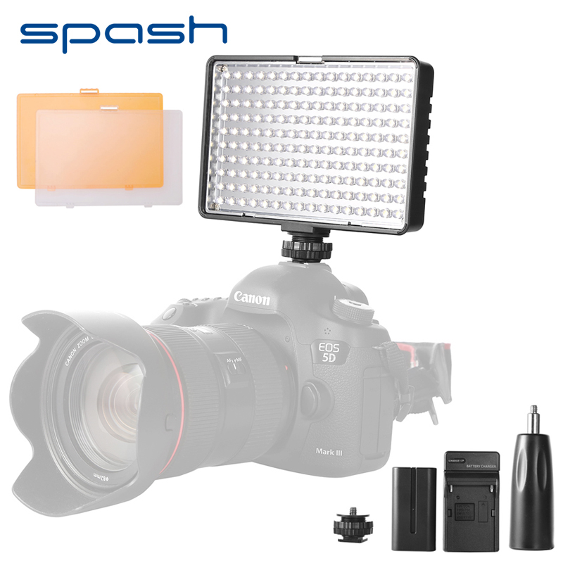 spash TL-160S LED Video Light Hand-held LED Light Panel Lamp 3200K/5600K CRI 85 Portable Photo Studio Light for Cameras spash tl 336as led video light dimmable 3200k 5600k photographic lighting hand held studio light lamp for canon nikon olympus