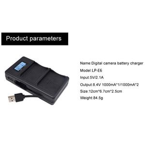 Image 5 - Lp E6バッテリー充電器液晶デュアル充電canon eos 5Ds r 5Dマークii 5Dマークiii 6D 7D 80D eos 5Ds rカメラ