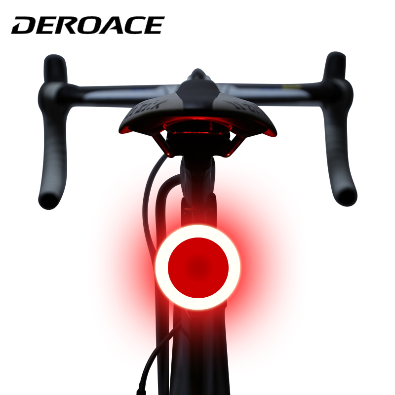 DEROACE Bike Light Bicycle LED Taillight Safety Warning Light Mountain Bike Rear Light Lamp Usb Charging Creative Taillight in Bicycle Light from Sports Entertainment