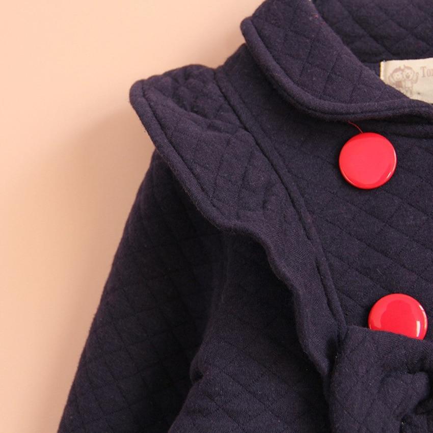 Kanak-kanak Perempuan Pakaian Luar & Mantel Atas kapas biru merah - Pakaian kanak-kanak - Foto 4