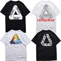 PALÁCIO de Refletir A Luz T Shirt Homens Mulheres SUPREMITIED 1:1 Alta qualidade 100% Algodão PALÁCIO Skates Kanye West Hip Hop Top Tee