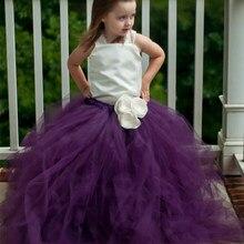 2016 Top qualität Europäischen stil Blume Mädchen Kleider Multicolor Blume 2-12Y prinzessin Drapierte Ballkleid Abendkleid BaBy Party