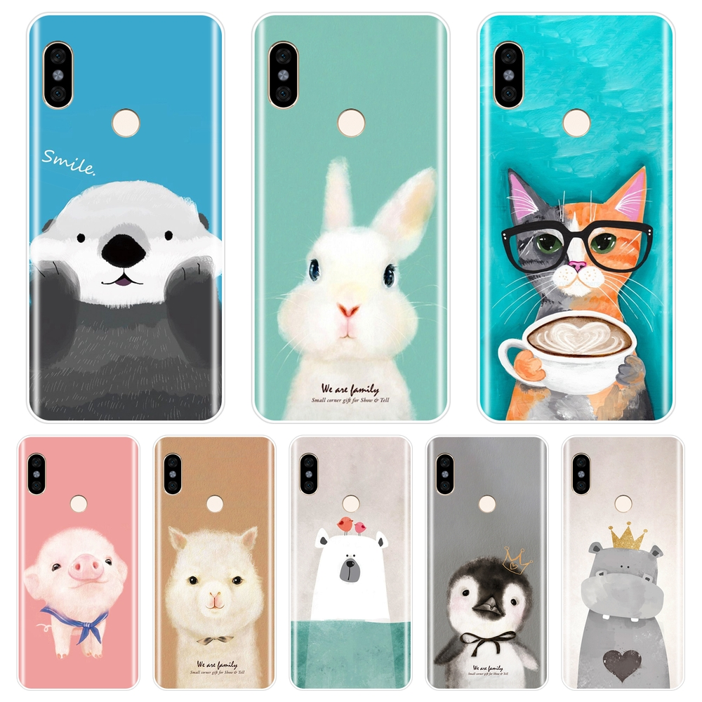 Pig Soft Silicone Phone Case For Pocophone F1 <font><b>Xiaomi</b></font> <font><b>Redmi</b></font> Note 4 4X 5 5A <font><b>6</b></font> Pro Prime Back Cover For <font><b>Redmi</b></font> S2 6A 5 Plus 4A Case image
