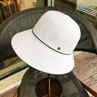 2019Basin cap female summer soft foldable bucket hat fine sunscreen cap straw hat visor casual sun hat womens hats fashionable