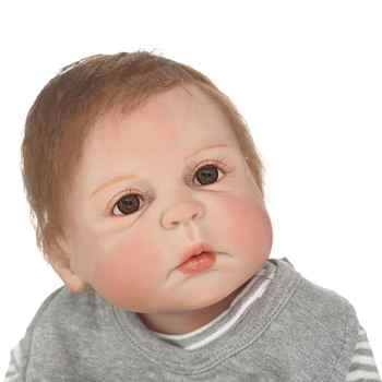 NPKCOLLECTION Lifelike 23Inch Reborn Baby Dolls Full Silicone Vinyl Body Babies Doll Waterproof Girl Toys Gifts Bebes Reborn