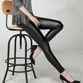 Women Faux Leather Leggings Slim Leggings High Elasticity Sexy Cozy Pants Nylon Leggings Free Size WY-01