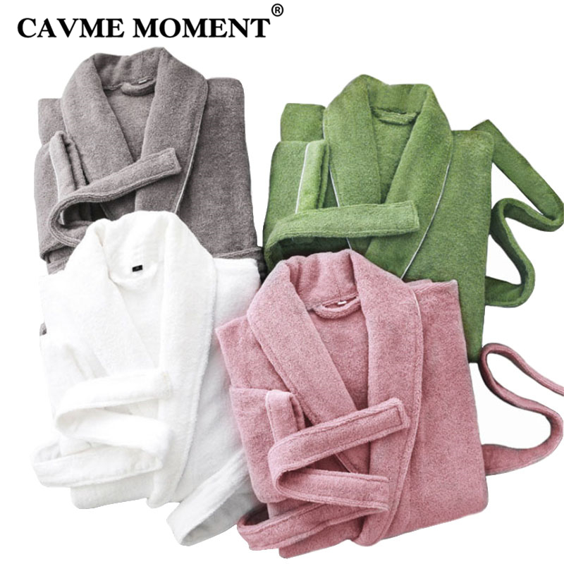 CAVME Terry Robes Cotton Kimono Towel Bathrobe for Women Femme Homme Men s Robe Hotel Robe