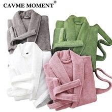 CAVME Robe de bain en coton éponge pour femmes et hommes, serviette Kimono, vêtements dhôtel, LOGO brodé personnalisé