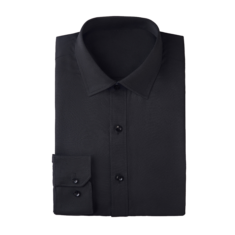Men's Dress Shirt Fitted Poplin Solid