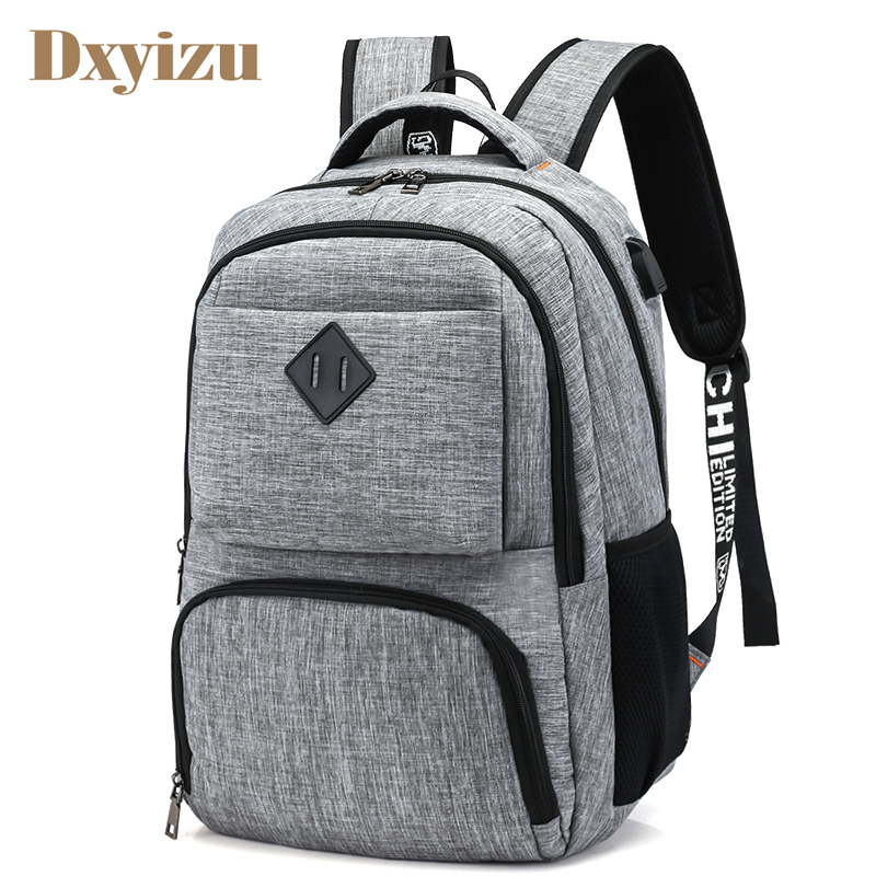 2019 Preppy Style USB Charge Backpack Men School Bags Teenager boys Laptop Bag Travel Large Capacity College Student Backpacks new style school bags for boys