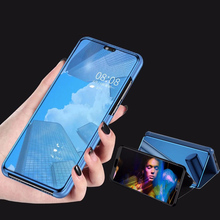 Clear View Window Smart Mirror Flip Case For Oneplus 7 Pro 6t 6 Protective Stand Cover 5T Coque Capa Funda