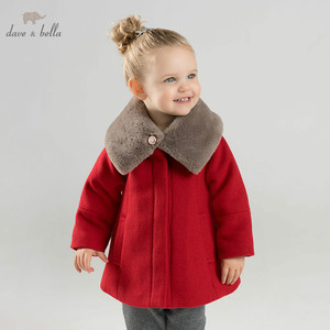Image 1 - DB8680 dave bella baby wool jacket chidlren fashion coat with shawl infant toddler boutique outerwear