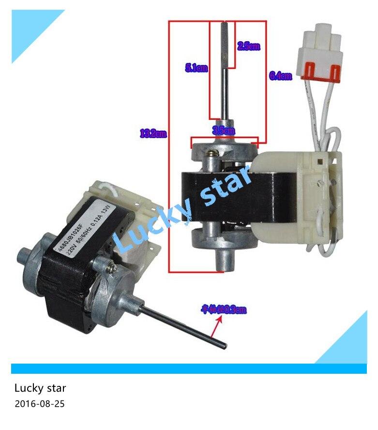 refrigerator Fan motor for refrigerator freezer GR-P207ER B2071G 4680JB1026A/E запонка arcadio rossi запонки со смолой 2 b 1026 20 e
