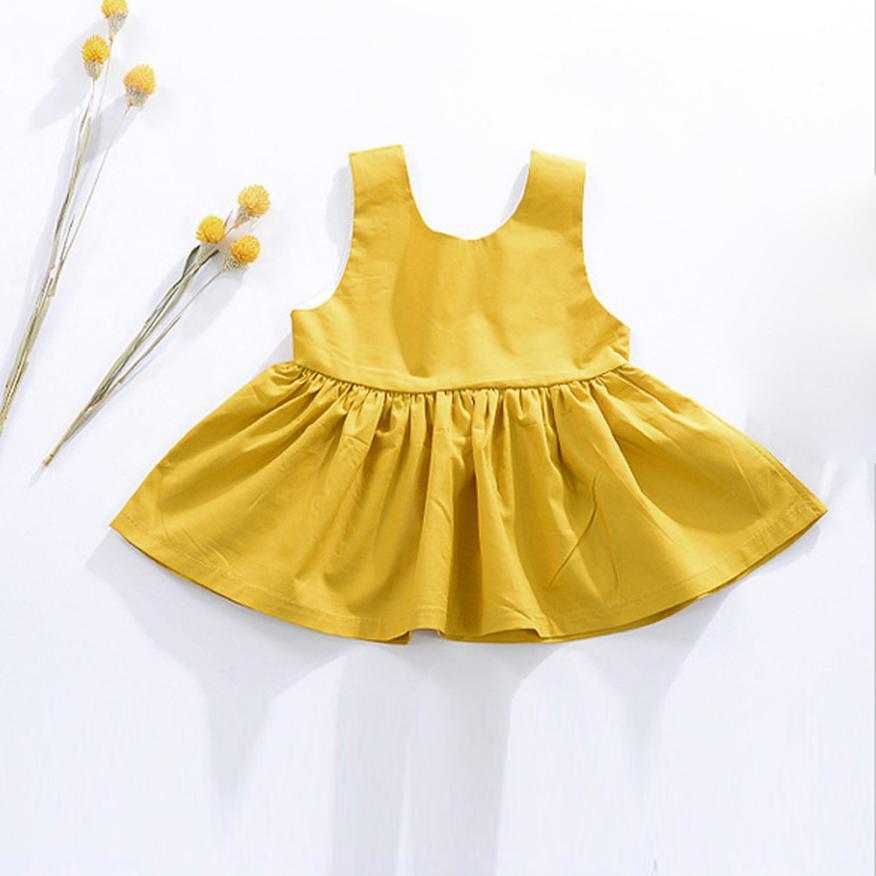 2017 New Arrivals Infant Kid Baby Girls Summer Sleeveless Princess Party Dress Outfit Baby Dress Girl vestido infantil