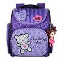 Delune дизайн милый медведь девушки школьные сумки ортопедические рюкзак Mochila Infantil Mochila эсколар детей портфолио рюкзаки