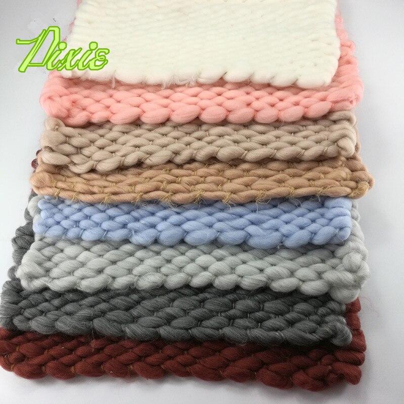 Handwoven 55 50cm Soft Pure Wool Blanket Basket Stuffer