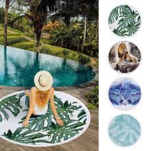 New Round Printing Style Tassel Beach Towel Blanket Ultra Soft Picnic Carpet Mat Sturdy Durable Skin-friendly Soft Plush Mat