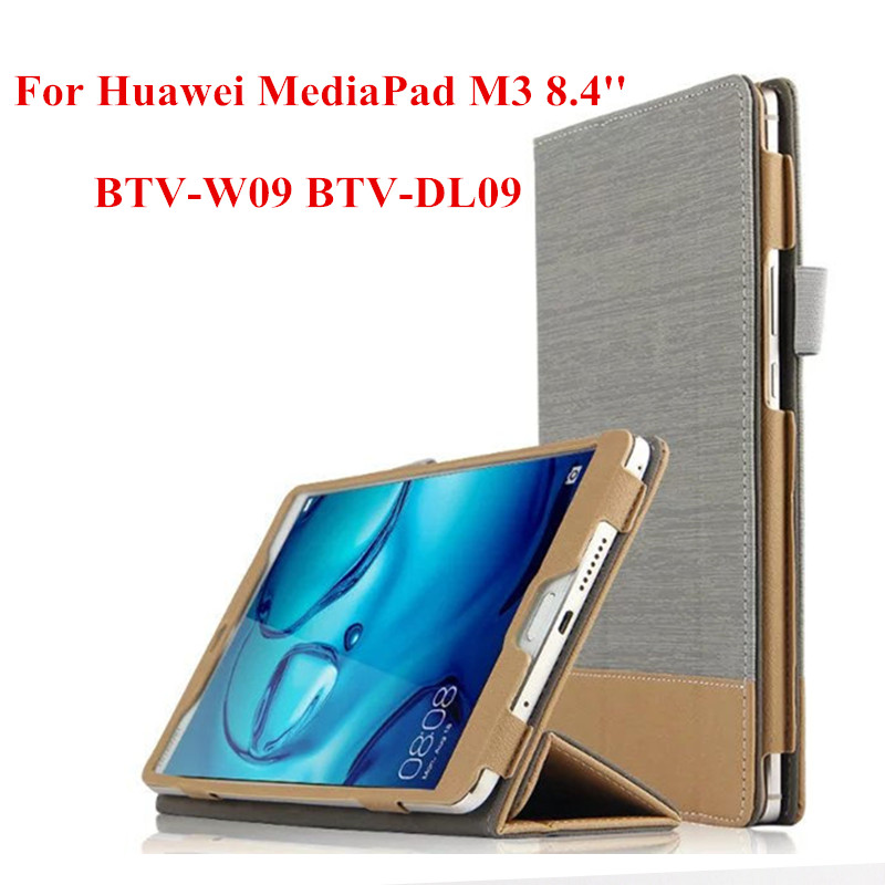 SD Luxury PU Leather Protective Skin Book Cover Business Case For Huawei MediaPad M3 8.4 inch BTV-W09 BTV-DL09 tablet PC