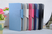 Hot Sale Luxury High Quality PU Leather Flip Silk Case Cover For Sony Xperia Neo L