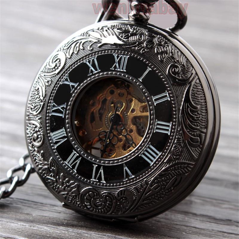 Vintage Սև մեխանիկական գրպանի ժամացույց - Գրպանի ժամացույց - Լուսանկար 5