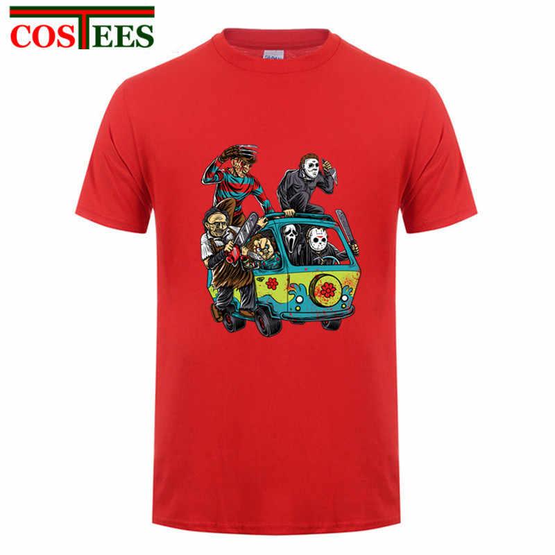 1752b7dc51a Crazy Horror Killer Jason Voorhees T shirt Men Custom Friday the 13th Tee  The Massacre Machine