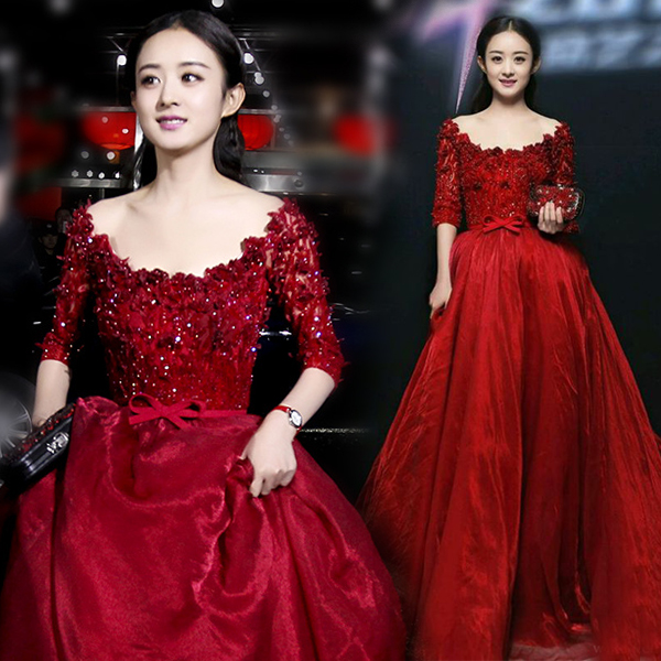 Elegant Scoop Neck Ball Gown See Through Lace Long Sleeves Applique Beaded Floor Length Quinceanera Dresses