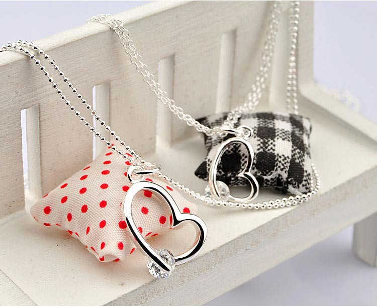 heart pendants  necklace,925 sterling silver women fashion necklace - Fine Jewelry - Photo 5