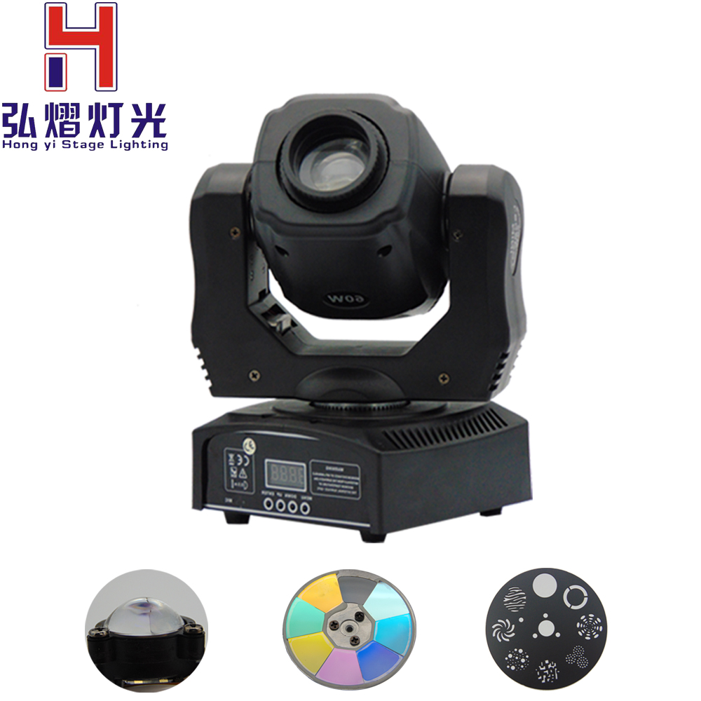 (1 pieces/lot) Best Quality 60W LED Moving Head Spot Light Moving Head Beam DMX512 China moving head 60w manufacturer 1 pieces lot high quality 60w led moving head spot light led moving head beam dj equipment dmx512 china 60w gobo moving heads