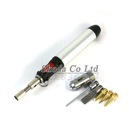 Cordless Welding Pen Burner Butane Gas Blow Torch Soldering Solder Iron Gun With Heat Core 5pcs